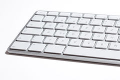 Apple keyboard. Apple computer design keyboard detail isolated on the white background Stock Image