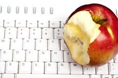 Apple on keyboard Royalty Free Stock Photo