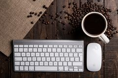 Apple, Keyboard, Mouse Royalty Free Stock Photo