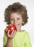 Apple kid. Royalty Free Stock Photography