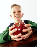 Apple kid. Royalty Free Stock Image