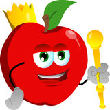 Apple king Royalty Free Stock Image