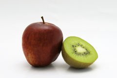 Apple and kiwi Royalty Free Stock Photo