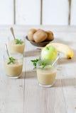Apple Kiwi Banana Sorbet Royalty Free Stock Images