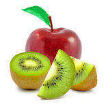 Apple and kiwi Royalty Free Stock Photos