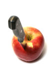 Apple with knife Royalty Free Stock Photo