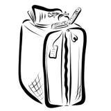 Apple, książka, telefon komórkowy i walizka, ilustracji