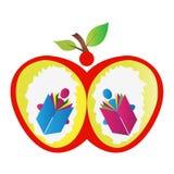 Apple książki czytelnicy Obrazy Royalty Free