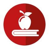 Apple książki szkoły symbolu cień Fotografia Royalty Free