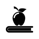Apple książki szkoły symbolu piktogram Zdjęcia Stock