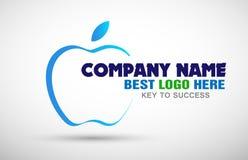 Apple kształtował biznesowe logo ikony ilustracje dla firma biznesu loga royalty ilustracja