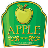 Apple label Stock Photography