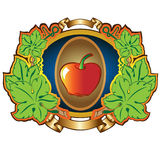 Apple label background Royalty Free Stock Image