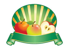 Apple label. Label for products used apple, all elements grouped for easy editing Royalty Free Stock Images