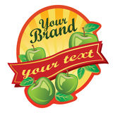 Apple Label. Label for some beverages made by apple, or can be used as logo. All elements are grouped and layered. Files in Adobe Illustration 10 Royalty Free Stock Image