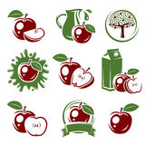 Apple labels and elements set. Vector Royalty Free Stock Photography