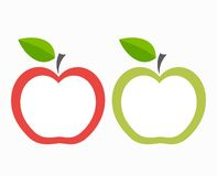 Apple labels. Red and green apple labels. Vector illustration Royalty Free Stock Photography