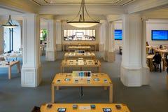 Apple lager Amsterdam Arkivfoto
