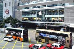 Apple lager Apple Store öppnade dess lång-väntade på första lager i Hong Kong Arkivfoton