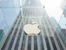 Apple lager i Manhattan, NYC Arkivfoto