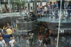Apple lager New York Arkivfoto