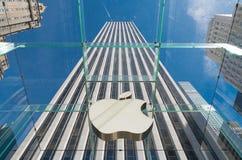 Apple lager New York Arkivfoton