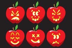 Apple-Lantaarnpictogrammen Stock Afbeeldingen