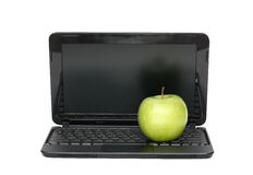 Apple On Laptop Royalty Free Stock Image