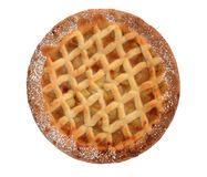 Apple Lattice Pie isolated on white Stock Images