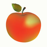 Apple with leaf illustration Royalty Free Stock Photography