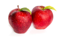 Apple with leaf isolated Royalty Free Stock Photo