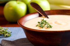 Apple and Leek Soup stock images