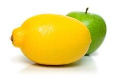 Apple and lemon Stock Photography