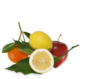 Apple,lemon and citrus. Freh fruit with apple,lemon and citrus Stock Photography
