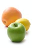 Apple, lemon and grapefruit Royalty Free Stock Image