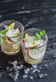 Apple, lemon and mint homemade lemonade Stock Photos