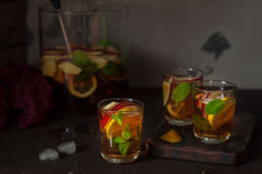 Apple,  Lemon and Mint Iced Tea Stock Photos