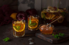 Apple,  Lemon and Mint Iced Tea Royalty Free Stock Photography