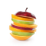 Apple Lemon and orange Color Fruits Royalty Free Stock Photo