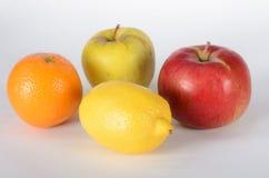 Apple lemon and orange Stock Photos