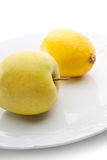 Apple and Lemon Royalty Free Stock Images