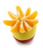 Apple lemon and tangerine slices Royalty Free Stock Photo