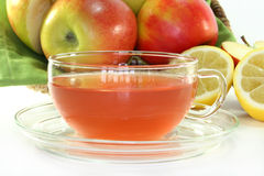 Apple Lemon Tea Stock Photos