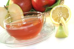 Apple-lemon tea Stock Photo