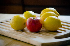 Apple and lemons Stock Photography