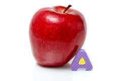 Apple and letter a Stock Images