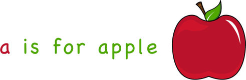 A is for Apple Royalty Free Stock Photos