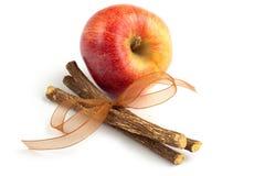 Apple and licorice Stock Photo