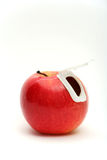 Apple with lid Stock Images