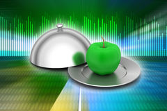 Apple with lid Stock Photography